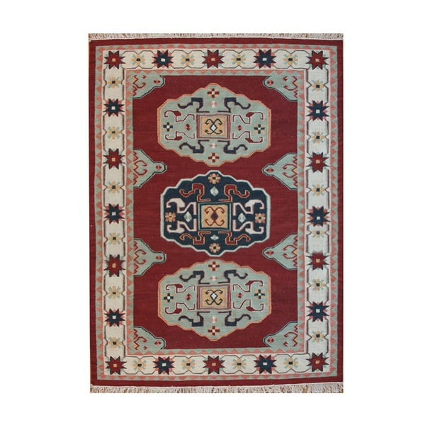 Vlnený koberec Kosak Red, 200x300 cm