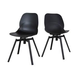 Čierna jedálenská stolička Canett Merle
