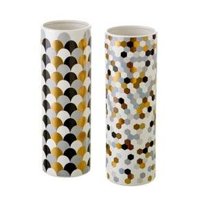Sada 2 keramických váz Unimasa Mold