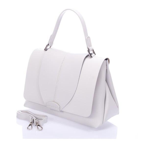 Kožená kabelka Mijoria, biela