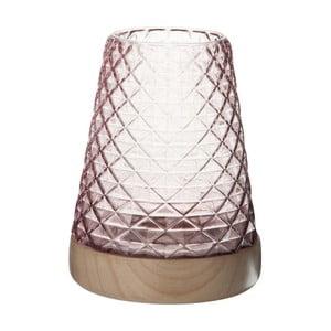 Sklenený lampáš Mauvel, výška 22 cm