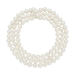 Perlový náhrdelník Muschel, biele perly 8 mm, dĺžka 90 cm