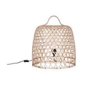 Svetlá stojacia bambusová lampa Canett Octavio, ⌀ 45 cm