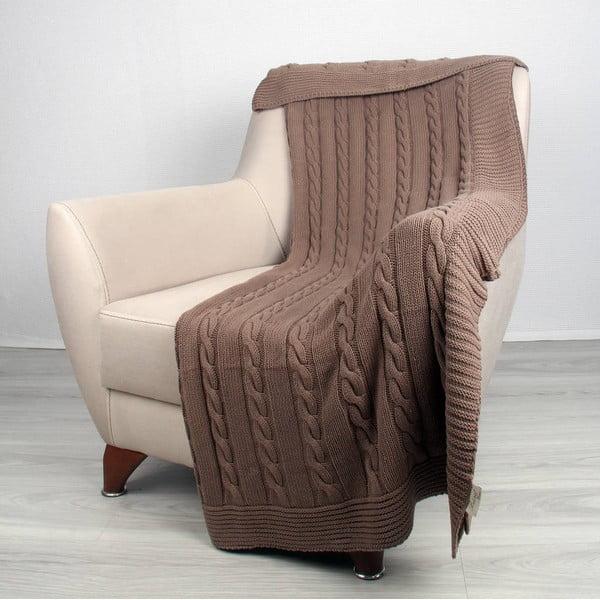 Hnedá bavlnená deka Ciana