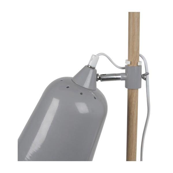 Sivá stolová lampa Leitmotiv Wood