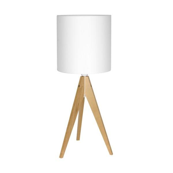 Stolná lampa Artist White/Birch, 40x25 cm