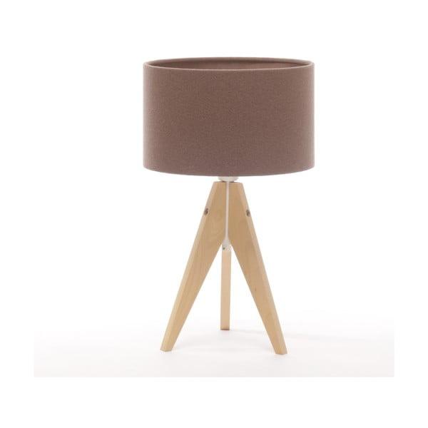Stolná lampa Arist Cylinder Dark Taupe/Natural