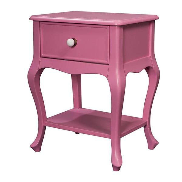 Odkladací stolík Purl Pink, 44x33x60 cm