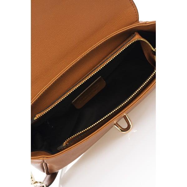 Kožená kabelka Markese 2355 Cognac