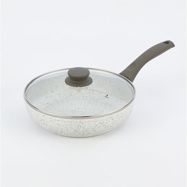 Panvica s pokrievkou a sivou rukoväťou Bisetti Grey,Ø24 cm