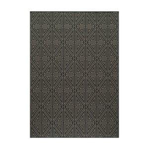 Čierny koberec Nourison Baja Rallo, 290×201cm
