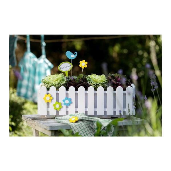 Kvetináč Window White, 50x20x16 cm