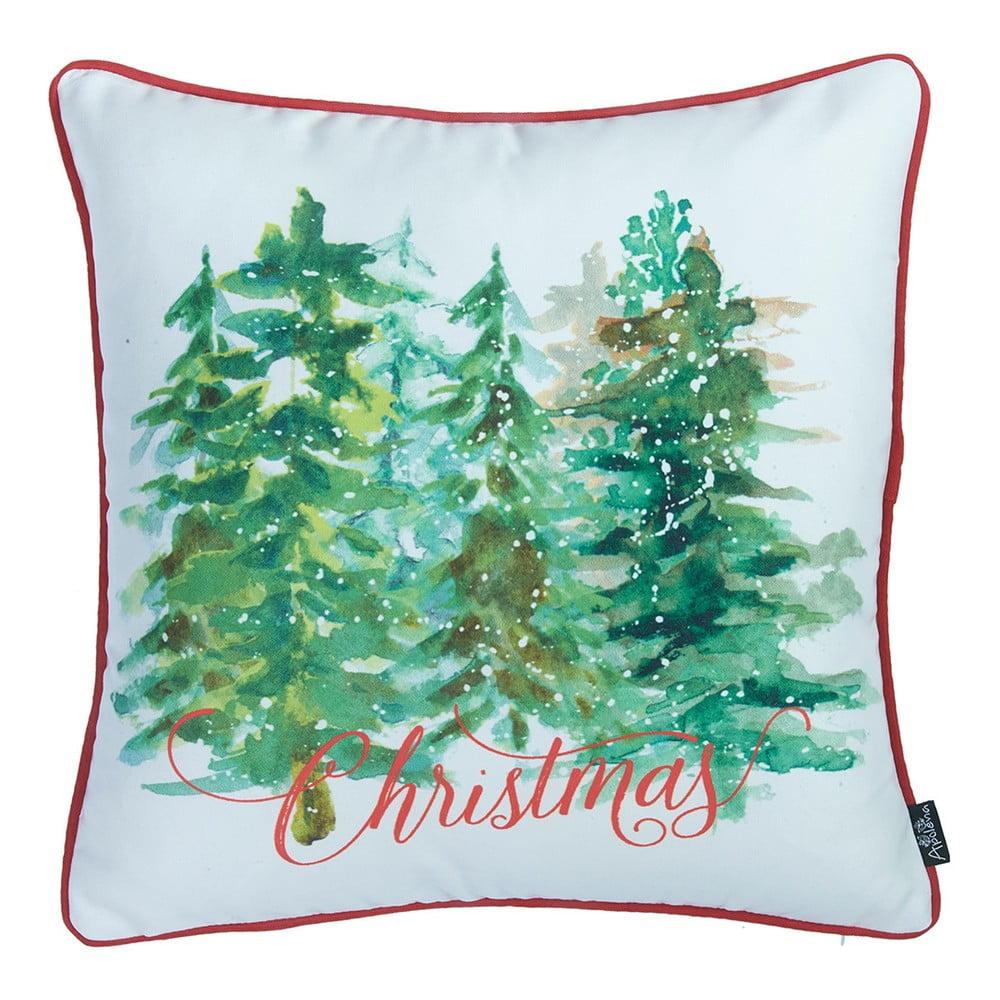 Obliečka na vankúš s vianočným motívom Apolena Honey Trees, 45 × 45 cm