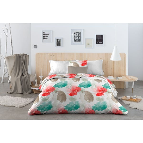 Obliečky Acuarella Tyrkys, 200x200 cm
