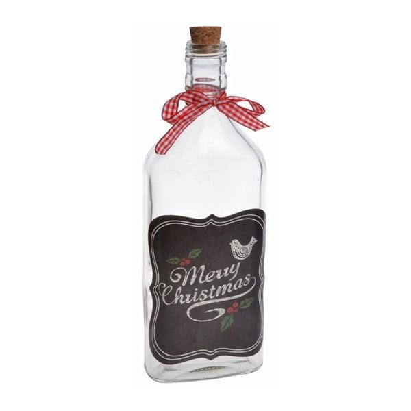 Sklenená fľaša Merry Chistmas Big