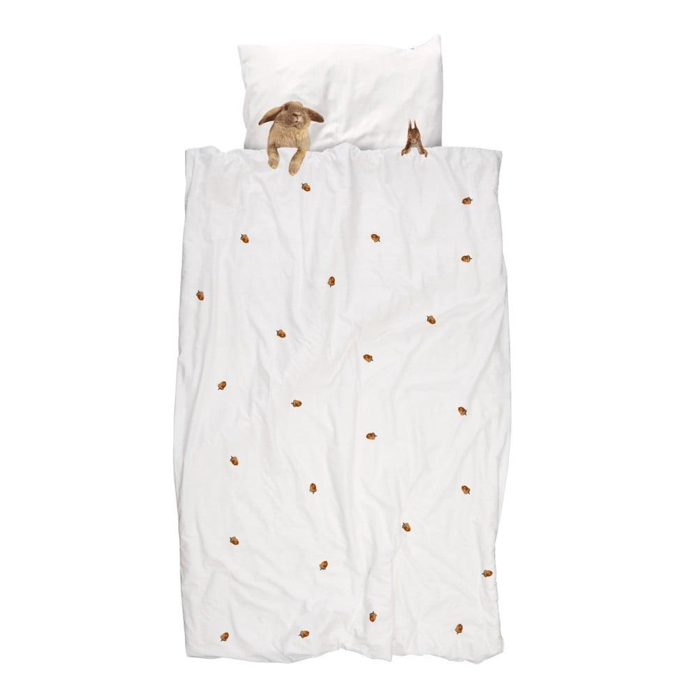 Bavlnené obliečky na jednolôžko Snurk Furry Friends, 140 × 200 cm