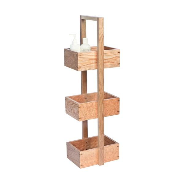 Drevený stojan do kúpeľne Wireworks Caddy Mezza, výška 84cm