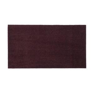 Tmavovínová rohožka Tica Copenhagen Unicolor, 67 x 120 cm