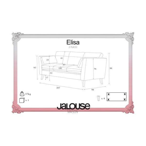 Pohovka pre troch Jalouse Maison Elisa, sivá