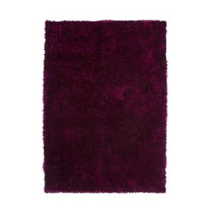 Tmavovínový koberec Kayoom Celestial 328 Purple/Black, 80 x 150 cm