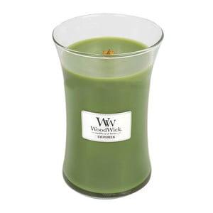Sviečka s vôňou ihličia Woodwick, doba horenia 130 hodín