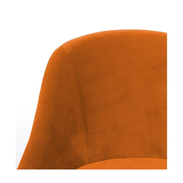 Oranžové kreslo Hawke&Thorn Herman
