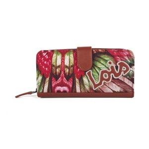 Farebná peňaženka s exotickými vzormi Lois, 18 x 9 cm
