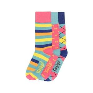 Sada 3 párov farebných ponožiek Funky Steps Stripes, veľ. 35-39