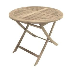 Záhradný skladací stôl z teakového dreva ADDU Solo, ⌀ 90 cm
