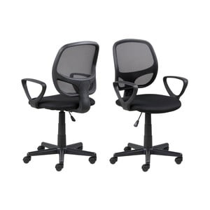 Čierna kancelárska stolička na kolieskach Actona Major