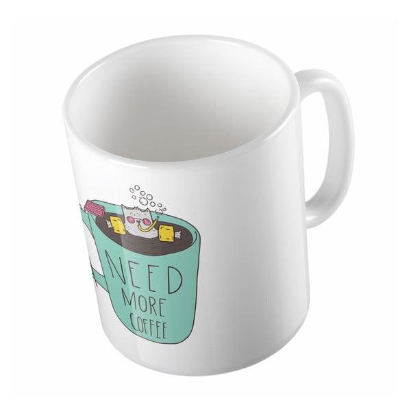 Keramický hrnček Need Coffee, 330 ml
