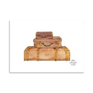 Autorský plagát Suitcases, 30x42 m