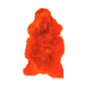 Oranžová ovčia kožušina Swedo, 110 x 60 cm