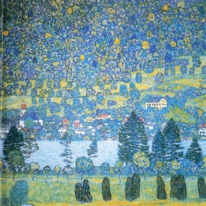 Reprodukcia obrazu Gustav Klimt - Lake, 45x45cm