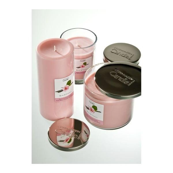 Aroma sviečka  Rose & Vanilla, doba horenia 40 hodín