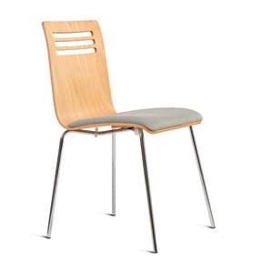 Stolička so sedákom z jaseňového dreva Charlie Pommier Comfort