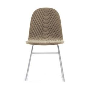 Béžová stolička s kovovými nohami IKER Mannequin V Wave