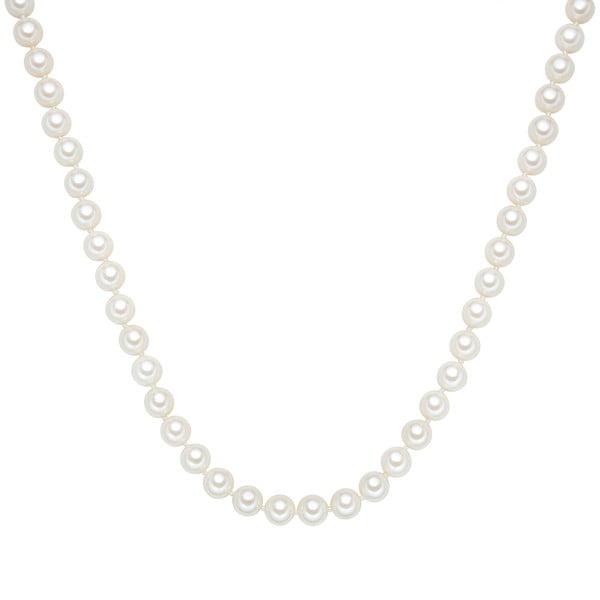 Perlový náhrdelník Muschel, biele perly 8 mm, dĺžka 40 cm