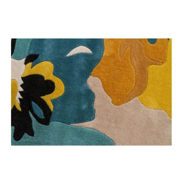 Koberec Bloom 80x150cm, modrý