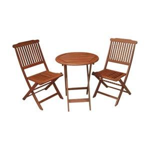 Set 2 balkónových stoličiek a stola z eukalyptového dreva ADDU Prague