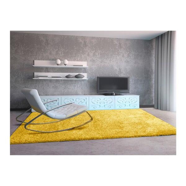 Žltý koberec Universal Aqua, 160 × 230 cm