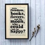 Plagát v drevenom ráme Oscar Wilde Freedom