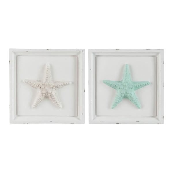 Sada 2 dekoratívnych rámčekov Starfish, 31x5x30 cm