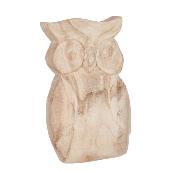 Sada 2 drevených sošiek Owls