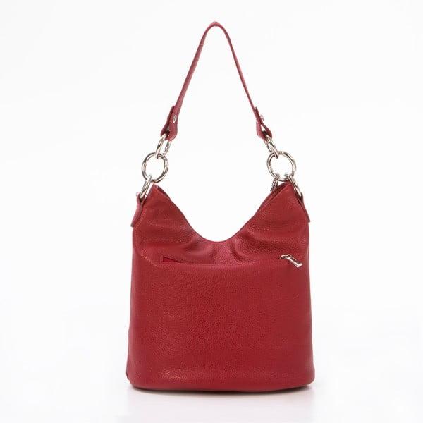 Kožená kabelka Luigi, červená