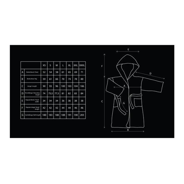 Béžový unisex župan z mikrovlákna DecoKing Sleepyhead, veľkosť S
