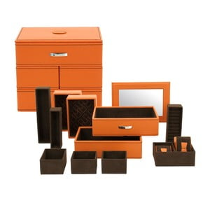 Šperkovnica Classic Orange, 21x15x19 cm
