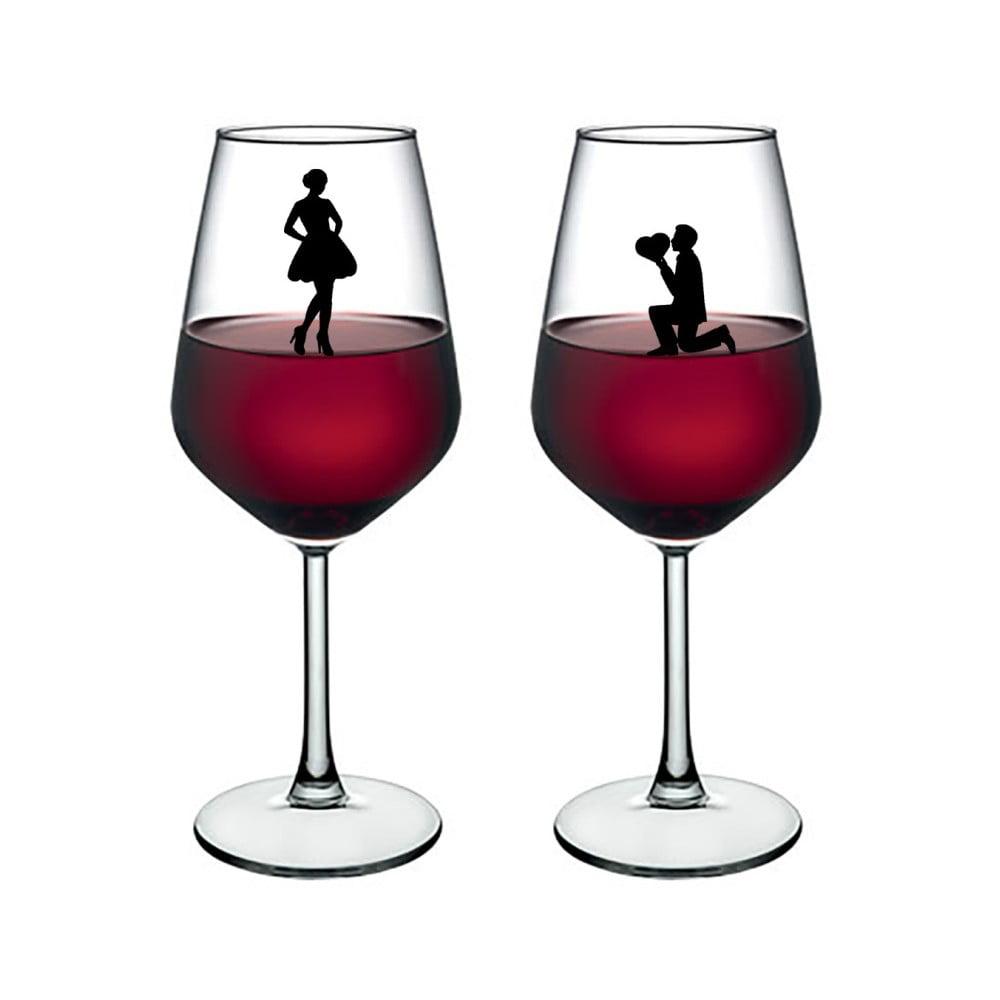 Sada 2 pohárov na víno Vivas Lovers, 345 cm
