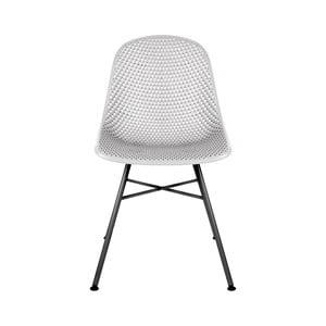 Svetlosivá jedálenská stolička Leitmotiv Diamond Mesh
