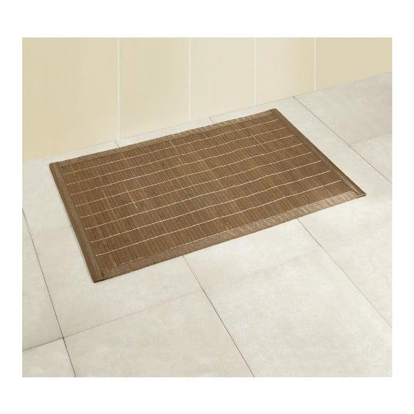 Tmavá kúpeľňová podložka z bambusu Wenko, 50x80cm